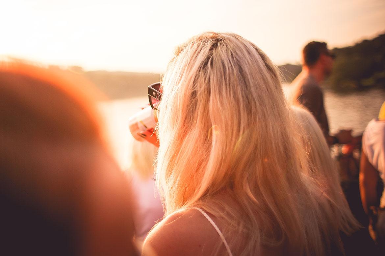 Girl Drinking on Sun